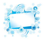 Abstract Flower Frame Stock Photo