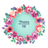 Abstract flower frame Royalty Free Stock Image