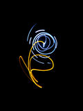 Abstract a flower,freezelight Royalty Free Stock Photo