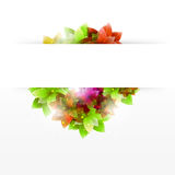 Abstract Flower Gift Card Royalty Free Stock Photo