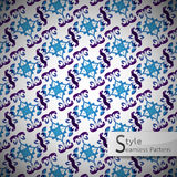 Abstract flower grid gradient vintage geometric seamless pattern Royalty Free Stock Photos