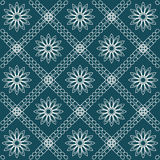 Abstract flower and grid pattern  illustration eps10. Royalty Free Stock Photography