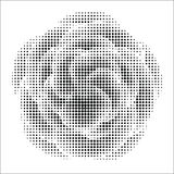 Abstract flower with halftone effect Royalty Free Stock Image
