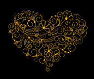 Abstract flower heart Stock Photography