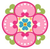 Abstract Flower and Heart Illustration Royalty Free Stock Images