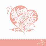 Abstract flower heart shape invitation card Stock Photography