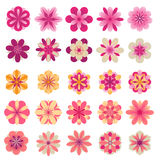 Abstract flower icons. Set of abstract flower icons stock illustration