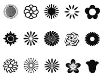 Abstract flower icons Royalty Free Stock Photography