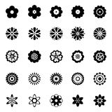 Abstract flower icons set Stock Photo