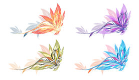 Abstract flower illustration Stock Image
