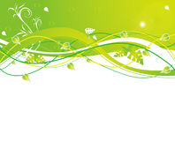 Abstract flower Illustration flower spring green Royalty Free Stock Photography