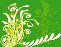 Abstract flower Illustration flower spring green Royalty Free Stock Images