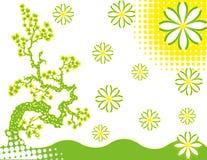 Abstract flower Illustration flower spring green Stock Image