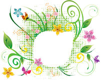 Abstract flower Illustration flower spring summer Stock Photos