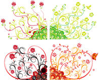 Abstract flower Illustration flower spring summer Stock Images