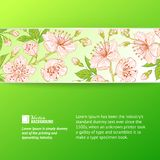 Abstract flower label. Royalty Free Stock Photos