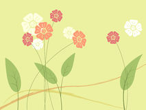 Abstract flower and leaf. In light green background Royalty Free Stock Photos