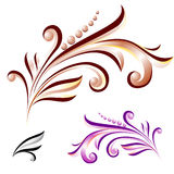 Abstract flower with leaves of different colors vector illustration