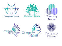 Abstract and flower logo Stock Images