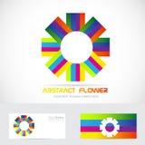 Abstract flower logo Stock Photos