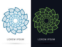Abstract flower lotus. Graphic vector Royalty Free Stock Photography