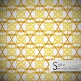 Abstract flower lotus loop golden lattice vintage geometric seam Royalty Free Stock Image