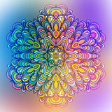 Abstract Flower Mandala. Decorative element for. Design Royalty Free Stock Images