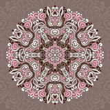 Abstract Flower Mandala. Decorative ethnic element for design Stock Image