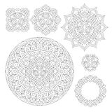 Abstract Flower Mandala. Decorative ethnic element for design. Stock Images