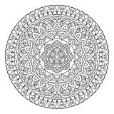 Abstract Flower Mandala. Decorative ethnic element for design. Royalty Free Stock Photos