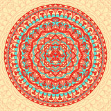 Abstract Flower Mandala. Decorative ethnic element for design. Stock Photos