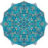 Abstract Flower Mandala. Decorative ethnic element for design. Royalty Free Stock Image