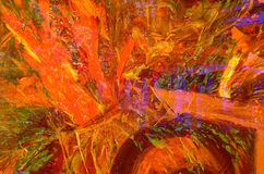 Abstract Flower Oil painting Stock Images