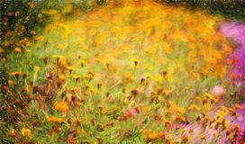 Abstract flower oil painting / photo art effect Royalty Free Stock Photo