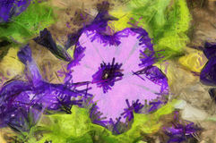 ABSTRACT FLOWER PAINT. Nice flower digital abstract paint Royalty Free Stock Photo