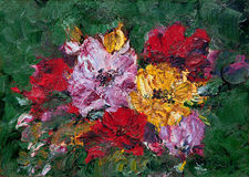 Abstract Flower Painting Stock Photography