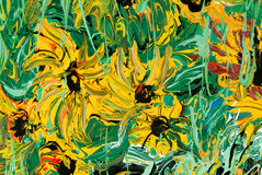 Abstract flower painting for background Stock Photo
