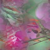 Abstract flower painting Stock Image