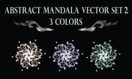 Abstract flower pastel round mandala  ornament royalty free illustration