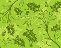 Abstract flower pattern. With butterfly, element for design, vector illustration Stock Photo