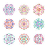 Abstract flower pattern. Mandala ornament. Floral oriental decor Stock Photography