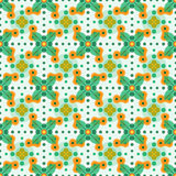 Abstract flower pattern. Modern abstract seamless flower pattern witt leafs and circles Royalty Free Stock Photos