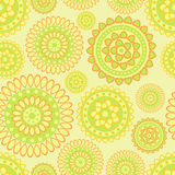 Abstract flower pattern. Nice oriental floral seamless pattern  on light green background Royalty Free Stock Photography