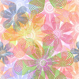 Abstract flower pattern Stock Image
