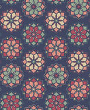 Abstract flower pattern royalty free illustration