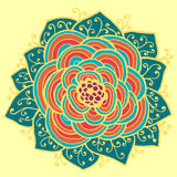 Abstract Flower pattern. Vector illustration Stock Photo