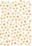 Abstract flower pattern stock illustration