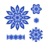 Abstract Flower Patterns. Decorative ethnic elements for design. Royalty Free Stock Photo