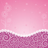 Abstract flower pink frame Royalty Free Stock Image