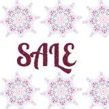 Abstract flower sale banner design. Sale mandala design for banner, poster Royalty Free Stock Image